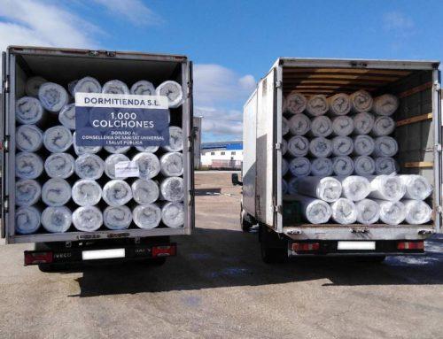 Dormitienda dona 1.000 colchones y pantallas protectoras a la sanidad valenciana